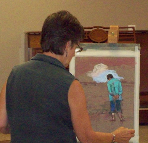 Eva Allen demo in pastels